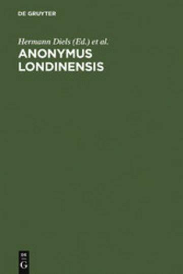 eBook Anonymus Londinensis Cover