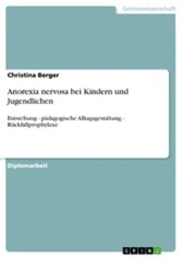 eBook Anorexia nervosa bei Kindern und Jugendlichen Cover
