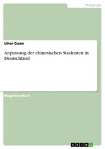 eBook Anpassung der chinesischen Studenten in Deutschland Cover