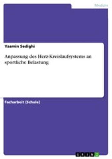 eBook Anpassung des Herz-Kreislaufsystems an sportliche Belastung Cover
