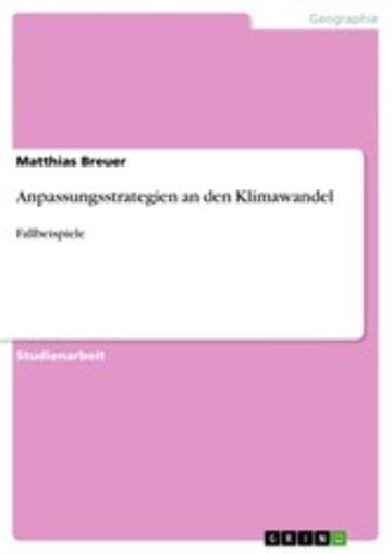 eBook Anpassungsstrategien an den Klimawandel Cover