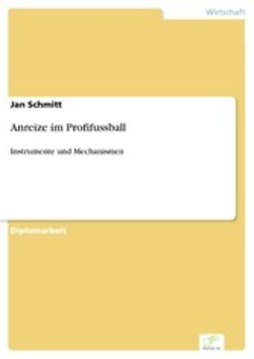 eBook Anreize im Profifussball Cover