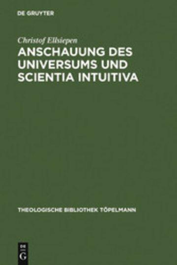 eBook Anschauung des Universums und Scientia Intuitiva Cover