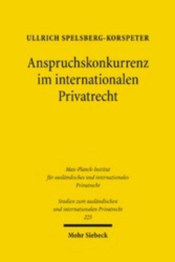 eBook Anspruchskonkurrenz im internationalen Privatrecht Cover