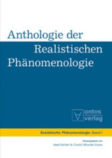 eBook Anthologie der realistischen Phänomenologie Cover