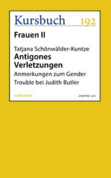 eBook Antigones Verletzungen Cover