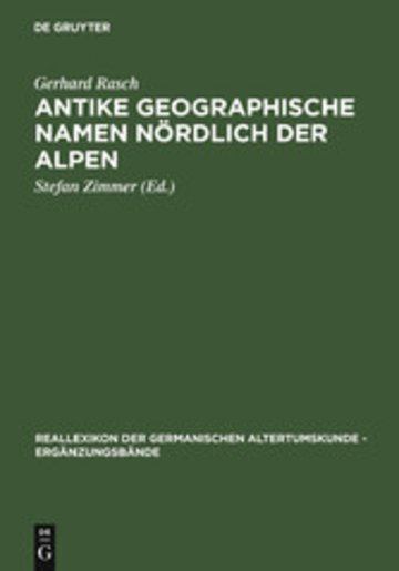 eBook Antike geographische Namen nördlich der Alpen Cover