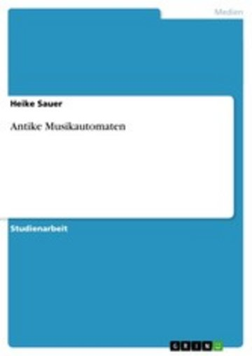 eBook Antike Musikautomaten Cover