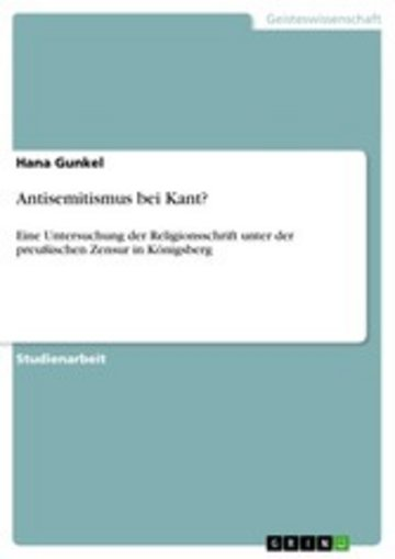 eBook Antisemitismus bei Kant? Cover