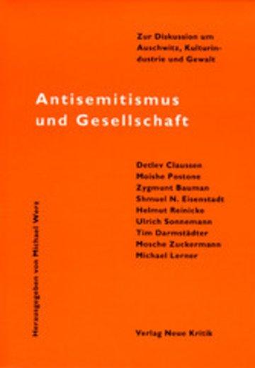 eBook Antisemitismus und Gesellschaft Cover