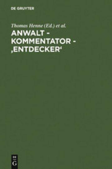 eBook Anwalt - Kommentator - 'Entdecker' Cover