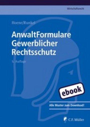 eBook AnwaltFormulare Gewerblicher Rechtsschutz Cover