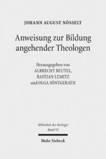 eBook Anweisung zur Bildung angehender Theologen Cover