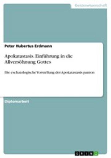 eBook Apokatastasis. Einführung in die Allversöhnung Gottes Cover