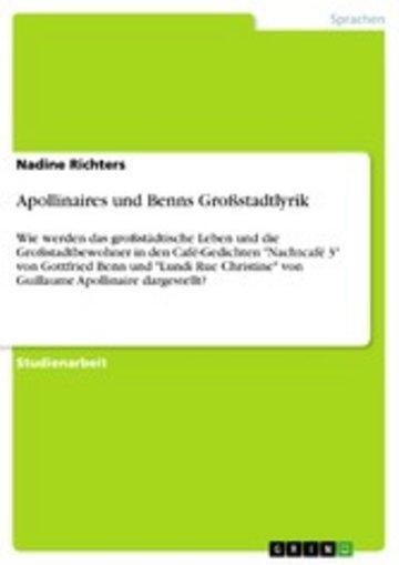 eBook Apollinaires und Benns Großstadtlyrik Cover