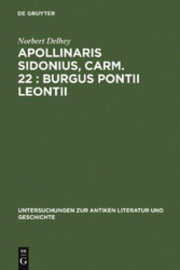 eBook Apollinaris Sidonius, carm. 22: Burgus Pontii Leontii Cover