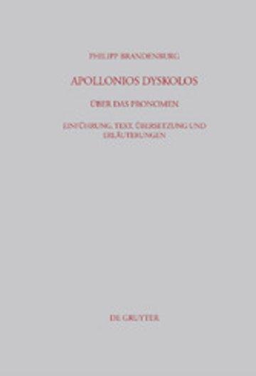 eBook Apollonios Dyskolos. Über das Pronomen Cover