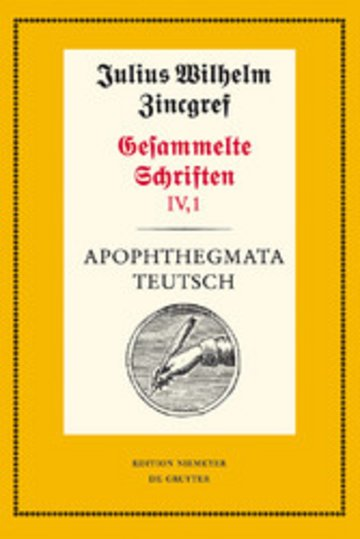 eBook Apophthegmata teutsch Cover