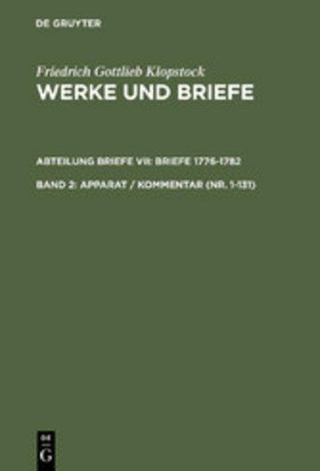 eBook Apparat / Kommentar (Nr. 1-131) Cover