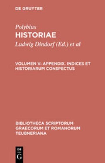 eBook Appendix. Indices et historiarum conspectus Cover