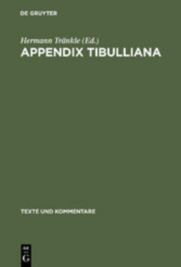 eBook Appendix Tibulliana Cover