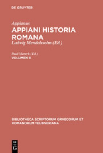 eBook Appianus: Appiani Historia Romana. Volumen II Cover