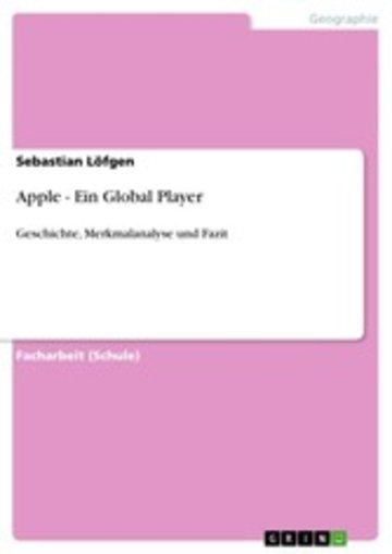 eBook Apple - Ein Global Player Cover