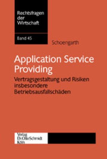 eBook Application Service Providing Cover