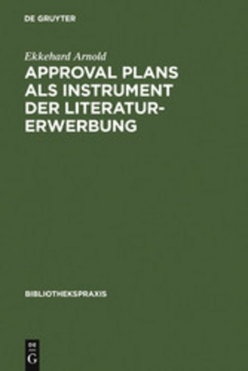 eBook Approval plans als Instrument der Literaturerwerbung Cover