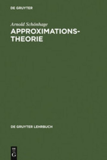 eBook Approximationstheorie Cover
