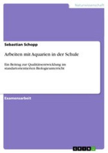 eBook Arbeiten mit Aquarien in der Schule Cover