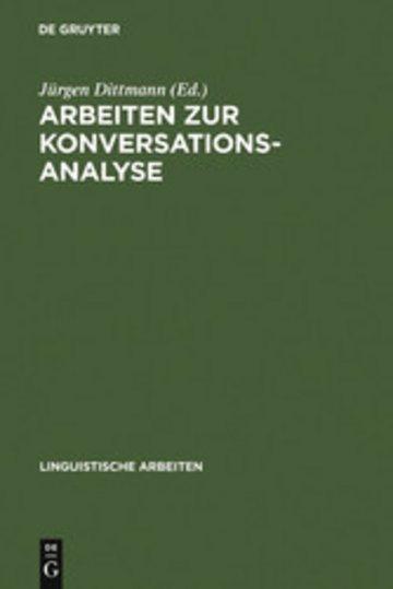 eBook Arbeiten zur Konversationsanalyse Cover