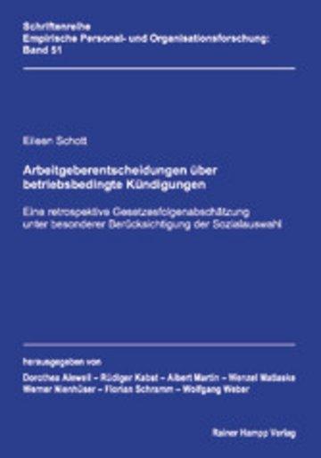 eBook Arbeitgeberentscheidungen über betriebsbedingte Kündigungen Cover