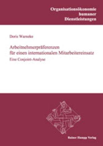 eBook Arbeitnehmerpräferenzen für einen internationalen Mitarbeitereinsatz Cover