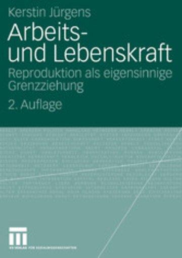 eBook Arbeits- und Lebenskraft Cover