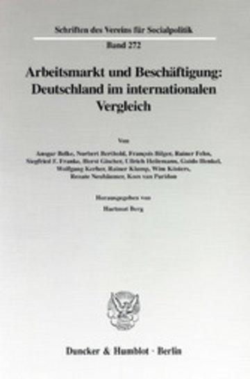 eBook Arbeitsmarkt und Beschäftigung: Deutschland im internationalen Vergleich. Cover