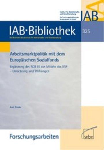 eBook Arbeitsmarktpolitik mit dem Europäischen Sozialfonds Cover