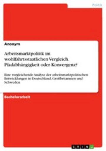 eBook Arbeitsmarktpolitik im wohlfahrtsstaatlichen Vergleich. Pfadabhängigkeit oder Konvergenz? Cover