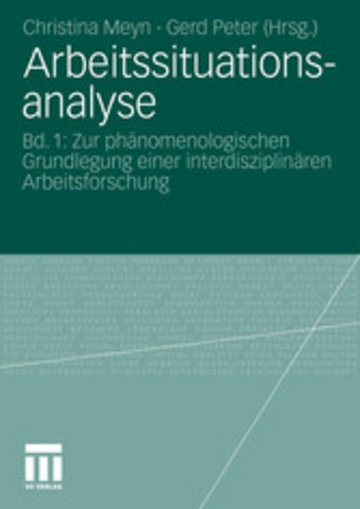 eBook Arbeitssituationsanalyse Cover
