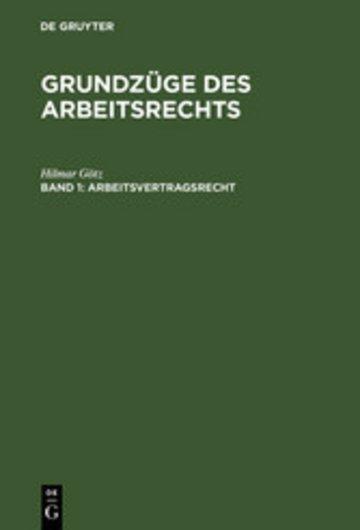 eBook Arbeitsvertragsrecht Cover