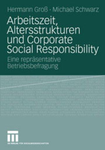 eBook Arbeitszeit, Altersstrukturen und Corporate Social Responsibility Cover