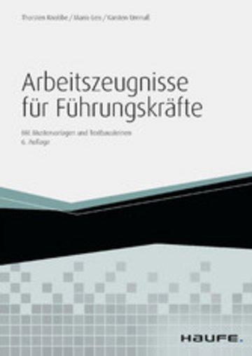 eBook Arbeitszeugnisse für Führungskräfte - mit Arbeitshilfen online Cover