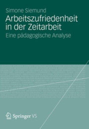 eBook Arbeitszufriedenheit in der Zeitarbeit Cover
