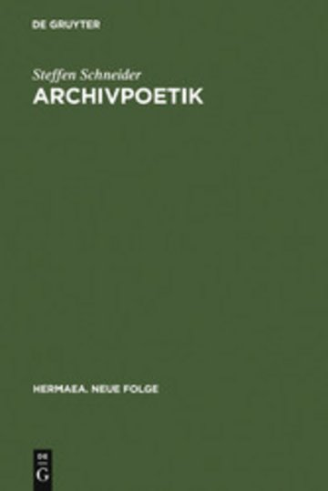 eBook Archivpoetik Cover