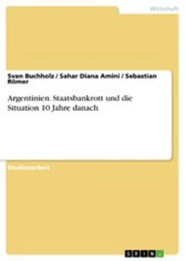 eBook Argentinien. Staatsbankrott und die Situation 10 Jahre danach Cover
