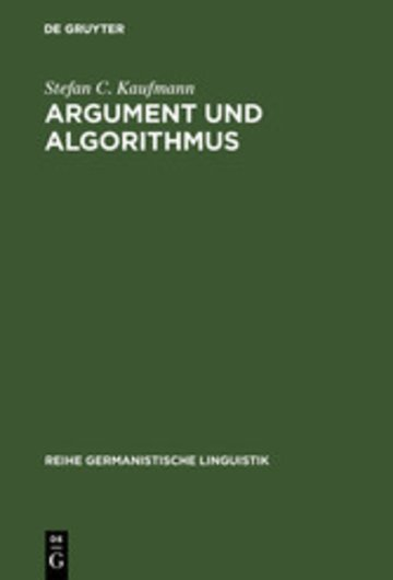 eBook Argument und Algorithmus Cover