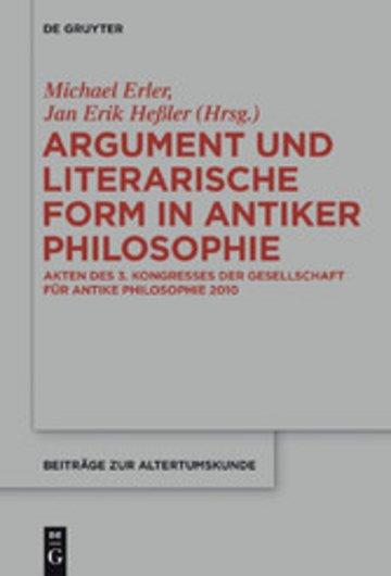 eBook Argument und literarische Form in antiker Philosophie Cover