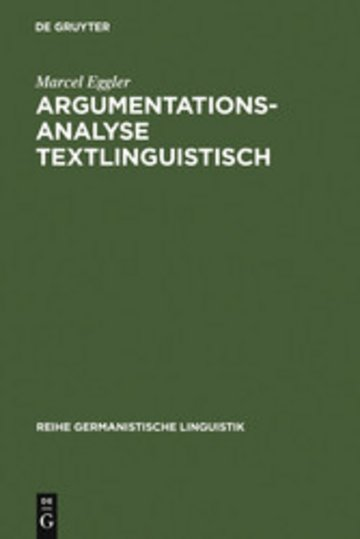 eBook Argumentationsanalyse textlinguistisch Cover