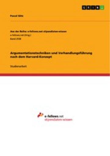eBook Argumentationstechniken und Verhandlungsführung nach dem Harvard-Konzept Cover