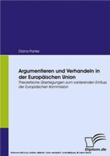 eBook Argumentieren und Verhandeln in der Europäischen Union Cover
